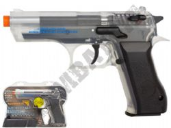 Desert Eagle Baby Jericho 941 CO2 Powered Airsoft BB Gun 2 Tone Black Clear